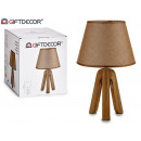 wholesale Lampes: lamp ceramic tripod brown screen