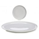 Teller weiße Porzellanpizza