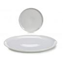 assiette pizza en porcelaine blanche