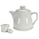 640cc weiße Teekanne aus weißem Porzellan