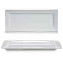 elongated white porcelain tray