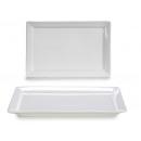 white porcelain rectangular tray