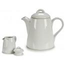 520cc white porcelain teapot with handle