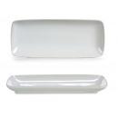 plateau ovale en porcelaine blanche