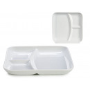 white porcelain square appetizer tray