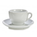 set of coffee milk cup and plate blah porcelain