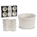 set of 6 white porcelain stackable saucers
