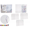 transparente Kunststoffmappe mit Gummi 3 Farben