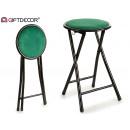 folding metal stool velvet green