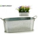 zinc oval planter