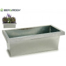 rectangular zinc planter