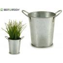 small zinc planter