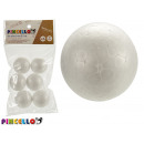 set of 6 balls 4cm polystyrene crafts