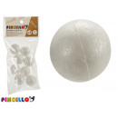 set of 8 balls 3cm polystyrene crafts
