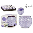 scented candle glass lavender jar