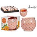 scented candle glass jar melon