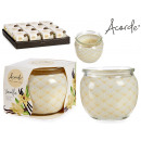 scented candle vanilla glass jar
