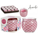 scented candle floral glass jar