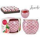 verre de bougie parfumée fraise