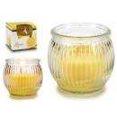Duftkerze Kristallglas geriffelte Zitrone