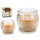 scented candle jar glass fluted iced
