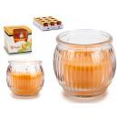 Großhandel Drogerie & Kosmetik: parfümiertes Kerzenglas gestreiftes ...