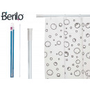 white extendable shower curtain rod