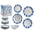 wholesale Household & Kitchen: porcelain tableware 19 pieces blue gradient