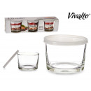set of 3 transparent 200ml jars vidri