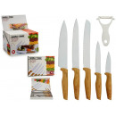wholesale Kitchen Gadgets: set of 5 knives and wood handle peeler