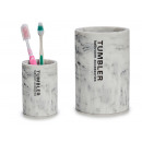 marble bathroom brush holder glass