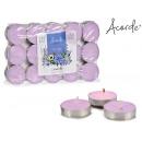 conjunto de 30 velas tea light lavanda