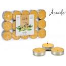 conjunto de 30 velas tea light vainilla
