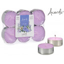 set of 6 maxi tea light lavender candles
