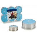 set of 6 candles maxi tea light ocean