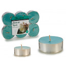 set of 6 candles maxi tea light dama de noc
