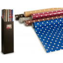 Großhandel Home & Living: Rolltischdecke dark dot sortiert 5x 1,18m