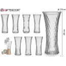 ingrosso Decorazioni: rilievo in vaso di vetro 13,3x29,3cm