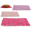 Rectangular table mat 45x30cm colors 3 times its