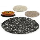 tapis de table rond d38cm, couleurs 3 fois assorti