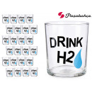 wholesale Toys: decorated bistro pint glass h2o 380 ml