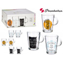 set of 6 decorated tribeca cups 290 ml
