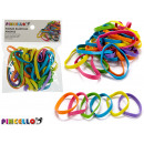set of elastic elastic bands wide colors