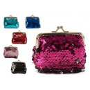 wholesale Wallets: purse sequins metal closure 6 assorted