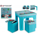 set table 2 stools circus train