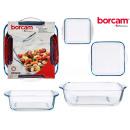 Set mit 2 quadratischen Schalen borcam 1040ml +