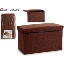 baul wäschekorb für schokolade 60x30x35cm