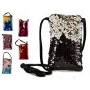 wholesale Crockery: porta mobile bag sequins assorted colors