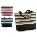 beach bag blue stripes colors 3 times assorted