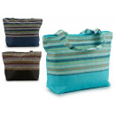 beach bag blue stripes multicolor colors 3 times